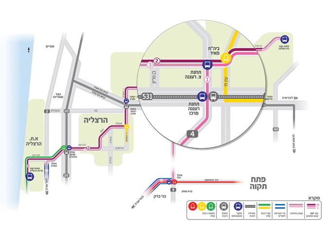 מפת רשת קווי BRT