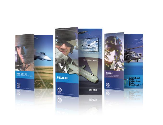 עיצוב עלוני מוצר חטיבות טילים וחלל לתעשייה הצבאית