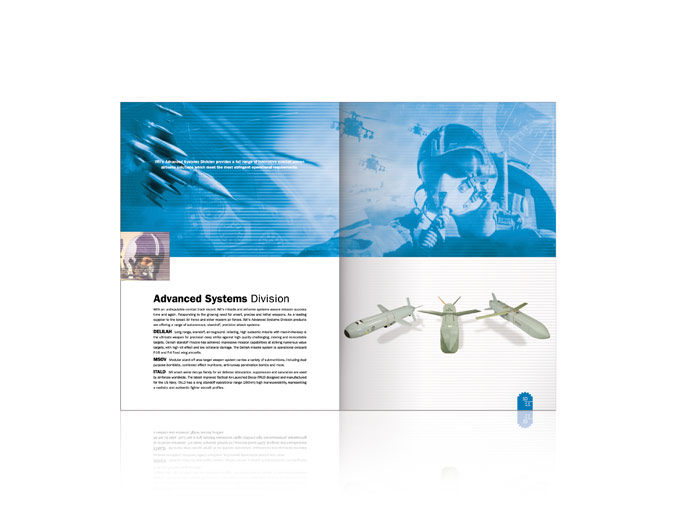 עיצוב כפולת פנים בחוברת מערכות טילים של התעשייה הצבאית