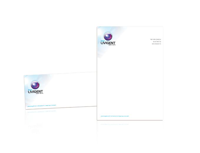 עיצוב ניירת משרדית לחברת ליוויגנט