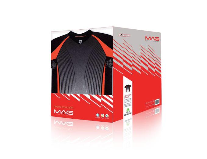 עיצוב אריזת מוצר למותג Mag - חולצת רכיבה
