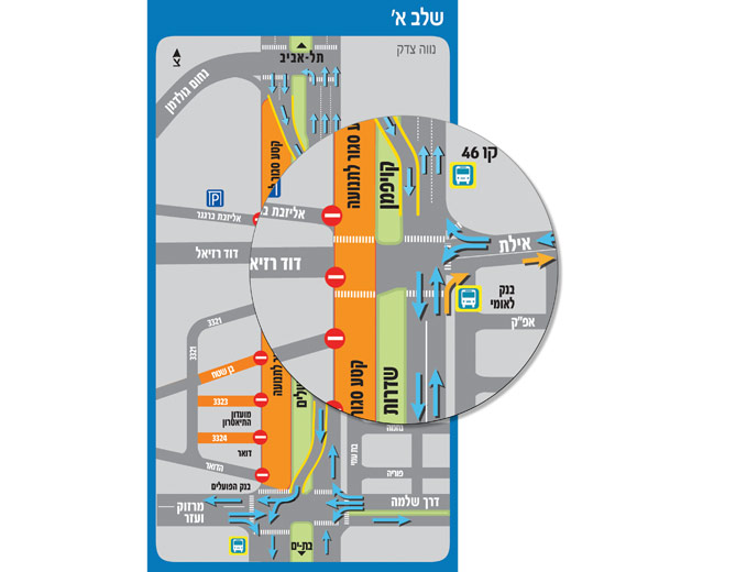 עיצוב מפת הסדרי תנועה לחברת נ.ת.ע