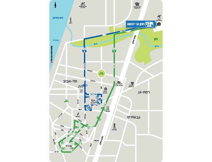 עיצוב מפת מסלולי השאטלים - נתע