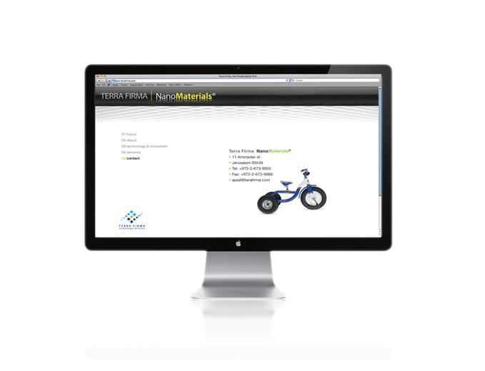 בנייה ועיצוב אתר אינטרנט חברת Terra Firma