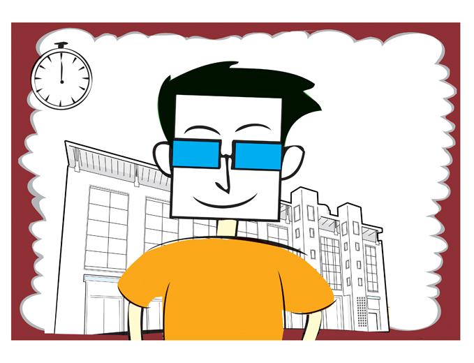 איור דמות מובילה - מושיק סרטון תיק תושב עיריית ירושלים