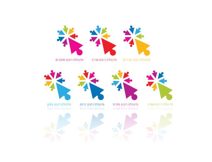 עיצוב לוגו לפרויקט רובעים בעיריית ירושלים
