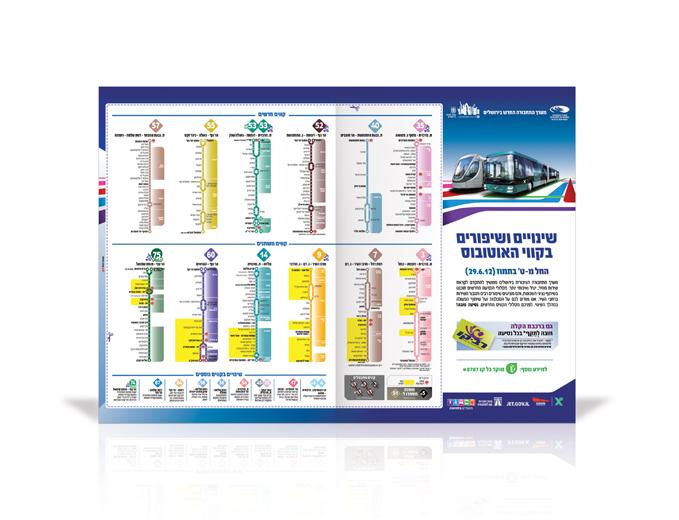 פרסום מודעת עיתון שינויי אוטובוסים בירושלים