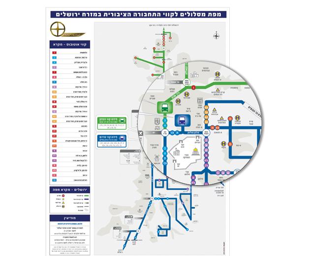 עיצוב מפת רשת קווי מסיעי מזרח ירושלים