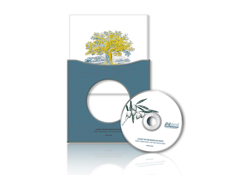 עיצוב תקליטור ומארז חגיגי לביקור האפיפיור בישראל