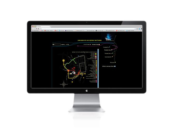 עיצוב ובניית מפה אינטראקטיבית באתר אינטרנט פסטיבל האור