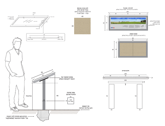 שילוט ומיתוג תחנת כח דליה אנרגיות -תכנון ועיצוב שילוט פנורמי מצפה תל צפית