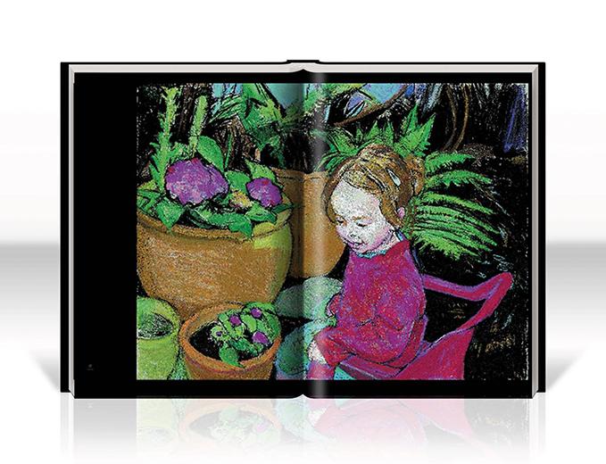 עיצוב ספר אמנות של הציירת פליס פזנר מלכין