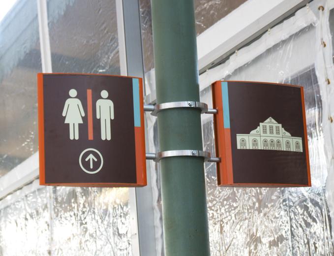 עיצוב ומיתוג שילוט הכוונה במתחם התחנה הראשונה בירושלים