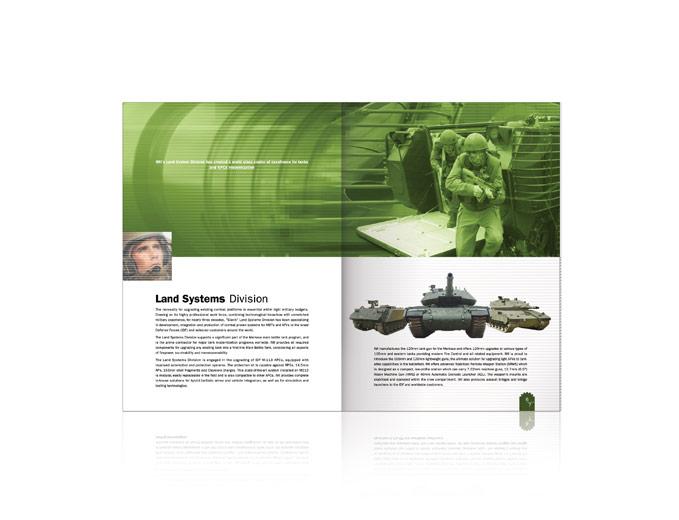 עיצוב כפולת פנים טנקים לחוברת שיווק התעשייה הצבאית