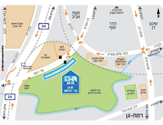 עיצוב מפת הגעה לחניון - ״חנה וסע״ נתע
