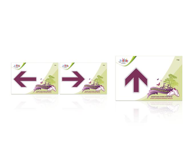 עיצוב שילוט הכוונה לאירוע - יום ספורט לנערות עיריית ירושלים