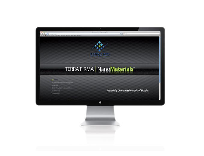 דף בית אתר חברת Terra Firma