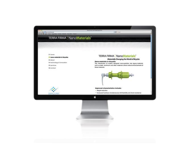 דף פנים אתר חברת Terra Firma