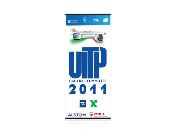 עיצוב רולאפ לכנס UITP לתחבורה