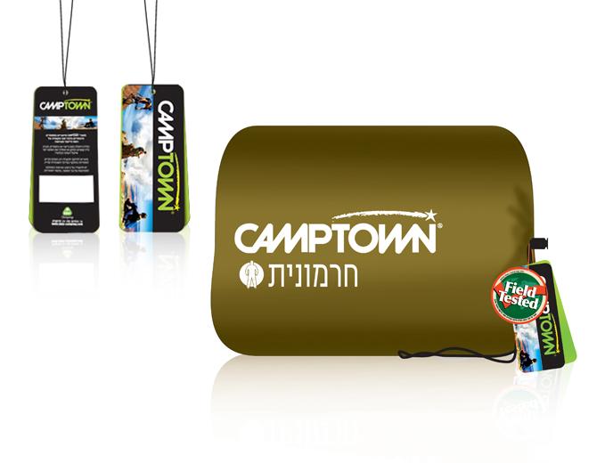עיצוב תווית מוצר למותג Camptown