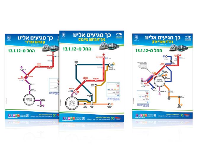 עיצוב פלקט דרכי הגעה ליעדים מרכזיים בירושלים