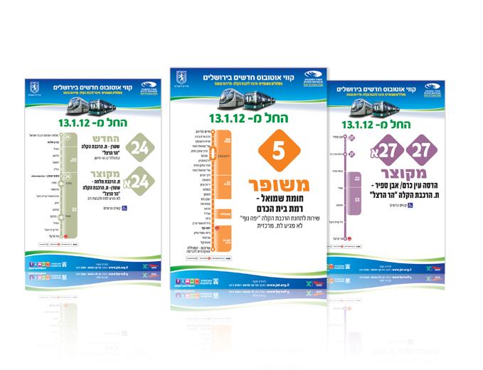 עיצוב פלקט מסלול קו לתחנת אוטובוס בירושלים