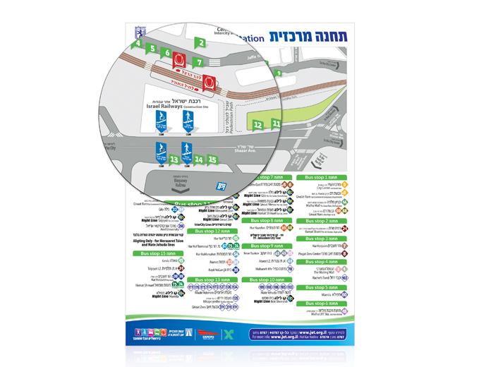 עיצוב מפת בתחנה המרכזית בירושלים