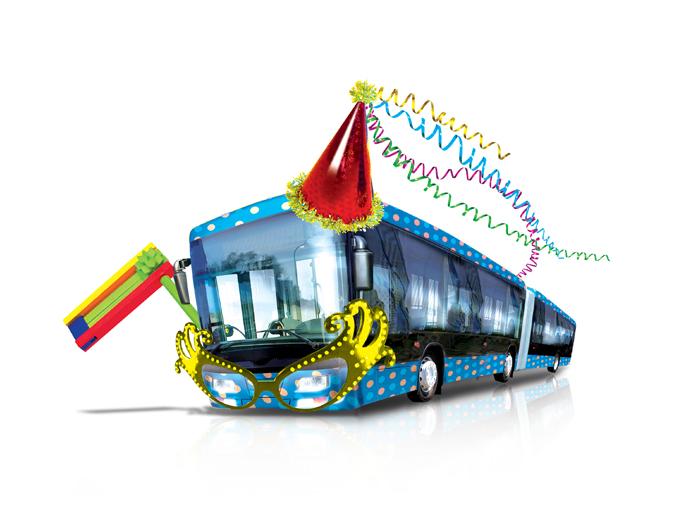 איור אימג' מוביל לשינויי קווי אוטובוס בירושלים בפורים