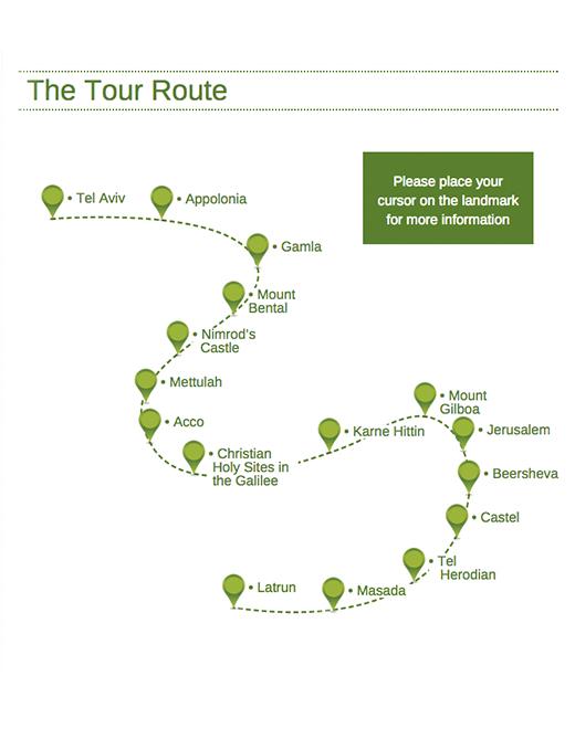 מיתוג ובניית אתר לחברת תיירות  - עיצוב ובניית מפה
