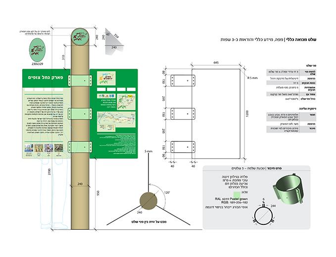 עיצוב ותכנון שלטי מבואה פארק ירושלים